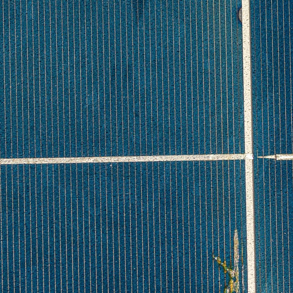 Solarmodule Test auf Schäden wie Abnutzung