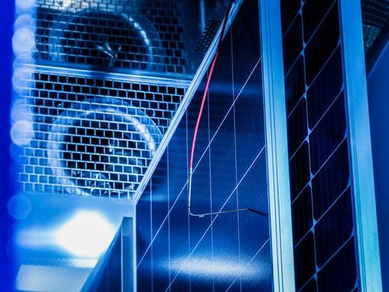 Klimakammer in Betrieb